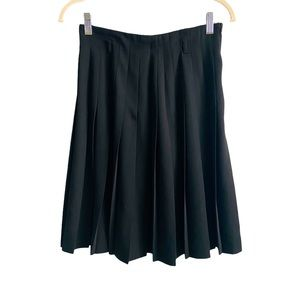 Escada Vintage Wool Blend Pleated Skirt